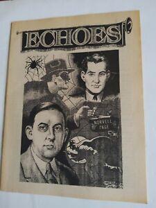 1982 Echoes Volume 1 No.2 Spider Cover Science Fiction Pulp Fanzine in Near Fine