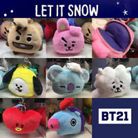 BTS BT21 Official Authentic Goods Coin Purse Bag Charm 7Characters + Tracking #