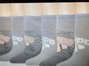 Women's ADIDAS No Show Sock Superlite 6-Pair Size 5-10 Pink,  Gray, & White