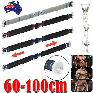 Chin Pull Up Exercise Door Home Gym Bar Training Body Fitness Strength 60-100cm