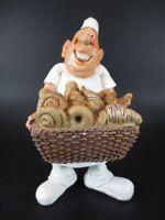 Bäcker mit Brotborb Baker 16 cm Beruf Funny Figur Kollektion