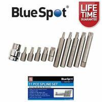 "BlueSpot 11 Piece Spline Bit Set M5 - M12 With 1/2"" Drive Adaptor 01515"
