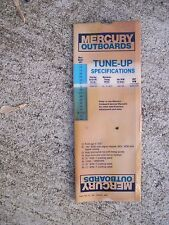 1970s Mercury Outboard Tune Up Specifications Slide Chart 3.6 - 300 V6 HP Boat S