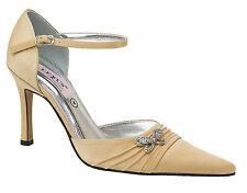 Ladies Lexus Medium Heel Sandal with Butterfly Diamante Design