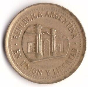50 Centavos 1994 Argentina Coin KM#111.2 Tucuman Building