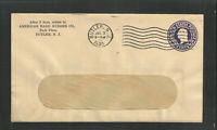 1935 AMERICAN HARD RUBBER CO BUTLER NJ ADVERTISING COVER US STAMPED ENVELOPE