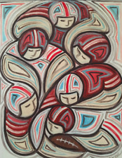 Sports Art Player Modern Original Football Painting For Sale By Artist Tommervik