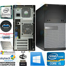 VELOCE WINDOWS 10 DELL 3020 4° GENERAZIONE Intel i5 3.20GHz 8GB PC DESKTOP SSD