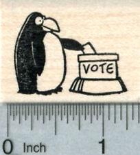 Penguin Casting Ballot Rubber Stamp, Voting Series D33709 WM