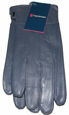 WOMENS LADIES SMALL / MEDIUM BLUE SOFT GENUINE LEATHER GLOVES - NEW