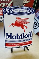 MOBILOIL PEGASUS PORCELAIN SIGN VINTAGE MOBIL GAS OIL CAN LUBESTER PLATE