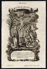 santino incisione 1700 S.LONGINO M. klauber