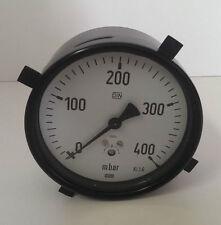 • WIKA Manometer Druckmeßgerät 0-400 mbar Ø ca 9cm Anschluss hinten -unused- #GO