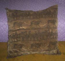 BROWN Velvet African Exotic Animals Decorative Throw Designer Pillow Cushion