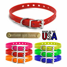 """1/2"""" Wide Small Dog Premium D Ring Waterproof Name Collar with Custom Name Tag"""