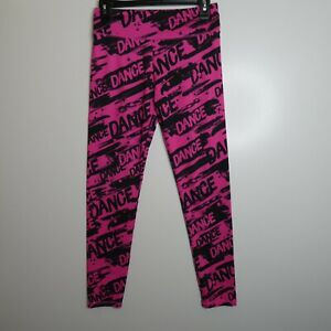 Justice Active Girls Size 16 Pink and Black Dance Pull-on Leggings