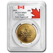 2019 Canada 1 oz Gold Maple Leaf MS-69 PCGS - Exclusive Item