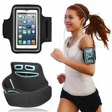For iPhone 5G 5S 5C Armband Adjustable Sports Running Jogging Cycling (Black)