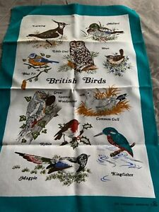VINTAGE RETRO NEW TEA TOWEL BRITISH BIRDS £4.50