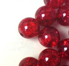 400 x 4mm / 200 x 6mm / 100 x 8mm / 50 x 10mm Crackle Glass Beads Various Colour
