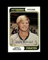Jerry Reuss Hand Signed 1974 Topps Pittsburgh Pirates Autograph