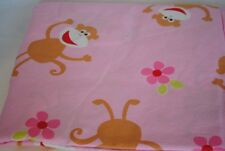 Full Fitted Sheet Monkey Percale Company Kids Pink Monkeys Soft Brown Cotton