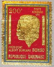 Rapatrié Gabon 1970 372 c101 Gold Foil president Albert Bernard Bongo Independence