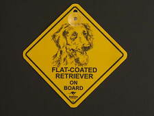 Flat Coated Retriever On Board Dog Breed Yellow Car Swing Sign Gift