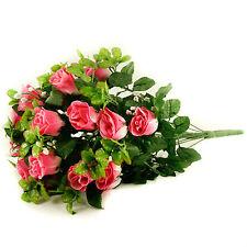 seta artificiale ROSA & GYPSOPHILA Bouquet di fiori 55cm 24 STELI di rose rosa