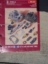 1976 - 1993 AC Delco Fuel Injection Units Kits Components Manual Catalog Auto O