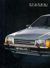 Hyundai Stellar 1988-89 UK Market Sales Brochure 1600 L SL GSL