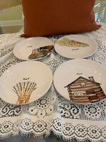 "Rae Dunn Thanksgiving 8"" Appetizer Plates Set of 4 FALL 2020 NEW!"