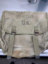 VINTAGE US 1943 MUSETTE BAG LANGDON TENT & AWNING CO