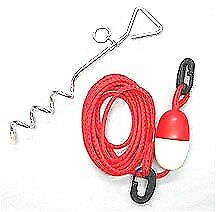 CANOE ROW BOAT WATERSPORTS INFLATABLE SAND SHORE ANCHOR STAKE KIT WITH EASY CLIP