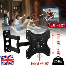 TV Wall Bracket Swivel Tilt For 10 15 20 23 25 30 32 38 40 42 Plasma 3D LCD