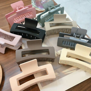 Square Frosted Matte Large Hairpin Women Hair Claw Clip Clamp Barrette Hairgrip
