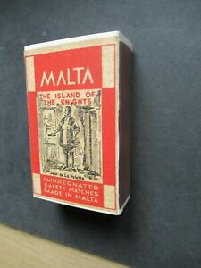 OLD MALTA HOUSEHOLD EMPTY MATCHBOX.
