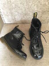 DR MARTENS Doc Martens Doc's Kids Junior Boots Size Uk 1 Black Patent Leather