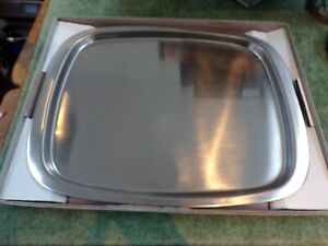 Old Hall Vintage Oblong Plain Tray stainless steal satin finish