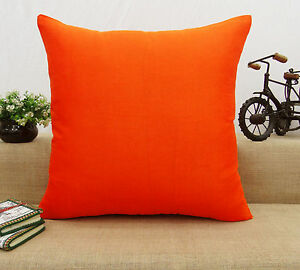 Home Decor Pillow Throw Solid Dupion Silk Cushion Cover Case - Choose Size