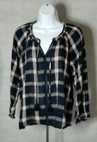 American Eagle Outfitters Navy & Peach Tunic Shirt Top Boho XS S L NWT FAST