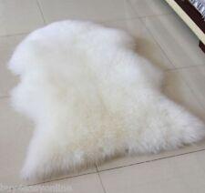 Real Australian Single One Pelt Sheepskin IVORY 2'x3' Rug Bedroom White fur rug