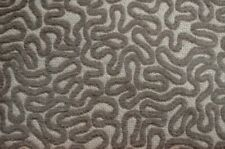 Squiggle Grey Chenille Textured Squiggle Upholstery Fabric