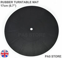 "Rubber Turntable Platter Mat 17cm 6.7"" Universal Crosley Ion Vibe Pyle Jensen UK"