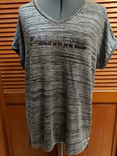St Louis Blues Women's Medium V Neck Heather Gray Short Sleeved Shirt NWT