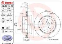 Disc Brake Rotor-Premium UV Coated OE Equivalent Rotor Rear fits 05-07 Impreza