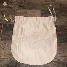 Priscilla Boston large lace and satin money bag