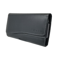 PU Leather Case Wallet Pouch Belt Holster Fits Pixel 3a with Protective Cover on