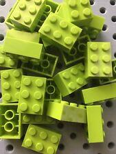 Lego Lime Green 2x3 Blocks Bricks 2 X 3 New Lot Of 25
