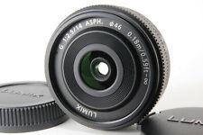 Panasonic Lumix G 14mm f/2.5 Black Aspherical AF Wide fix Lens For M4/3 w/ Caps